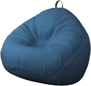 أريكة واحدة كرسي محشو بألوان سادة تصميم بسيط كرسي مقعد قطن كتان كسول كرسي فول مع حشوة للبالغين والأطفال