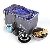 Juego de té japonés Matcha, juego de caja de regalo de té Matcha, batidor de matcha, cuchara tradicional, cuenco de Matcha, soporte de batidor de cerámica, carrito de Matcha, para ceremonia(Tipo 2)