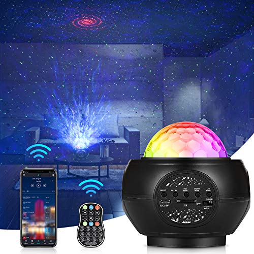 Star Projector,Night Light Projector for Kids and Rotating LED Nebula,Starry Sky Projection Lamp with Remote Control for Baby Bedroom,Game Rooms,Party,Home Theatre,Night Light Ambiance