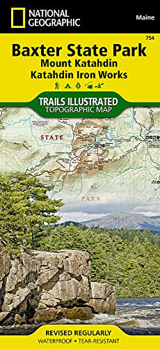 National Geographic Trails Illustrated Topographic Map Baxter State Park / Mount Katahdin, Katahdin Iron Works: Maine