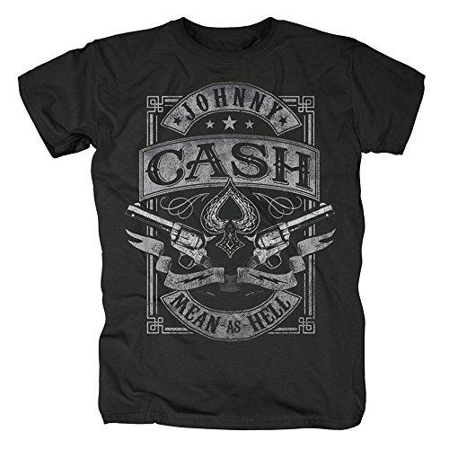 Johnny Cash Herren T-Shirt - Mean as Hell (XL)