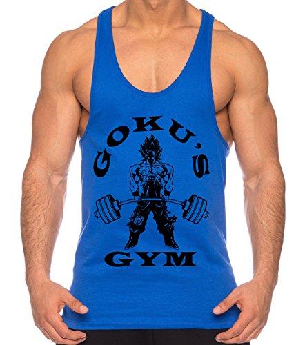Goku Golds Chemise Manches Courtes pour Homme One Goku Dragon Master Son Ball Vegeta Turtle Roshi Piece Gym, Farbe2:Royalblau;Größe2:XXL