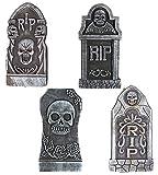 Sayala 4Pezzi Decorazioni Halloween Lapidi RIP,Schiuma Tombstone cimitero Decorazioni di Halloween