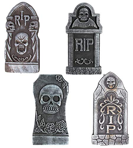 Sayala Halloween decoración Rip,4Piezza Tombstones Rip Espuma lápida Decoraciones de Cementerio Decoraciones de Halloween al Aire Libre