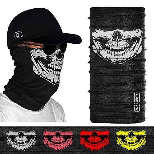 GAMPRO 2 Stück Nahtlos Schädel Gesicht Schlauch Maske Motorrad Gesichtsmaske