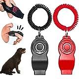 Barley Ears 2 silbato para perros con silbato, entrenamiento para perros y animales pequeños con correa para la muñeca, uso para recompensar y entrenar herramientas para perros (rojo+negro)