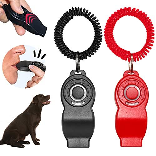 Barley Ears Hunde Clicker, 2 Stück Hunde Klicker Set für Hundetraining Hundeerziehung Auch für Katzen Pferde