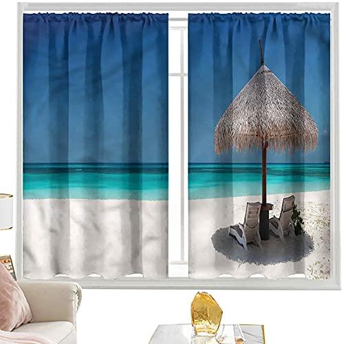 cortinas térmicas costeras,Tumbonas en Azure Shoreline W52 x L95 pulgadas cutainsforlivingroom