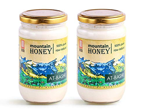 Raw White Honey; Natural Organic Creamed Wildflower Mountain Honey from Central Asia