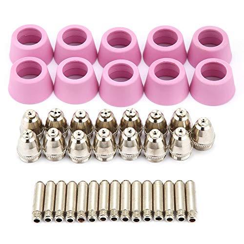 40 teil/satz Keramikdüse Plasmaschneider Schneidbrenner Elektrode Düsen Tip Zubehör Fit Brenner Zubehör für AG60 SG55