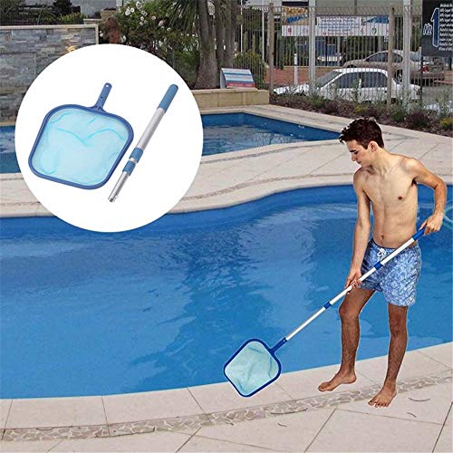 GKanMore Pool Skimmer Net with 17-41 inch Telescopic Pole Leaf Skimmer Mesh Rake Net for Spa Pond Swimming Pool, Pool Cleaner Supplies and Accessories