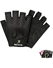VERTAST - Guantes de gimnasio con agarre acolchado sin dedos para levantamiento de pesas, entrenamiento combinado, ciclismo, para mujer y hombre