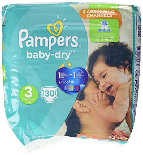 PAMPERS Baby Dry Taille 3 - 5 a 9 kg - 30 couches