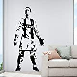 Ajcwhml Real Madrid Ronaldo Pegatinas de Pared Papel Pintado Decorativo habitación Infantil decoración del hogar Pegatinas de Pared