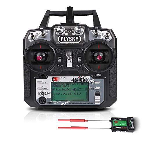 Flysky FS-i6X 10CH 2.4GHz AFHDS RC Transmitter mit FS-iA10B Empfänger ( Modus-2 Left Hand Throttle )