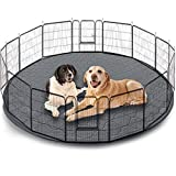Washable Pet Bed Mat,Reusable Dog Pee Pads Playpen Mat 48' Round,Waterproof Whelping Mat for Dogs,Non Slip Puppy Pee Pads Great Absorbent Dog Bed Mats for Training Traveling,Less Cleanup,2 Pack