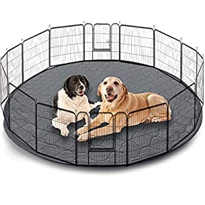 Washable Pet Bed Mat,Reusable Dog Pee Pads Playpen Mat 48″ Round,Waterproof Whelping Mat for Dogs,Non Slip Puppy Pee Pads Great Absorbent Dog Bed Mats for Training Traveling,Less Cleanup