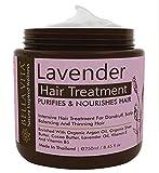 Mascarilla en crema para el cabello con queratina y lavanda para cabello encrespado, seco y dañado