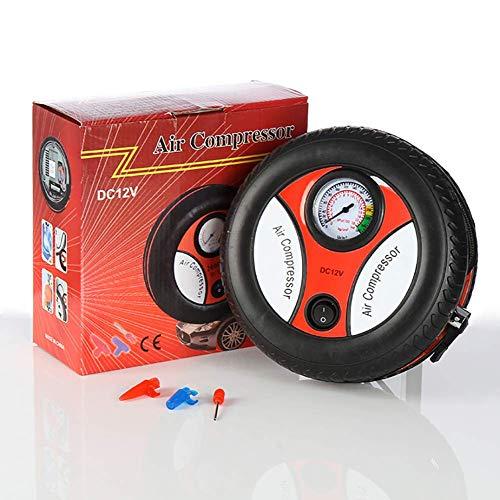 Inflador de neumáticos Bomba eléctrica Bomba de neumáticos de coche Compresor de aire portátil con juego de adaptadores y pantalla para juguete de bola de bicicleta de auto