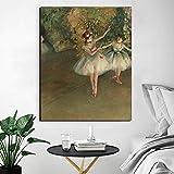 Edgar Degas Dos Bailarines En El Escenario Pinturas Sobre Lienzo Ilustraciones Poster Impresiones Lienzo Famoso Arte De La Pared Salon De Estar Decoracion Para El Hogar Cuadros 40x50cm Sin Marco