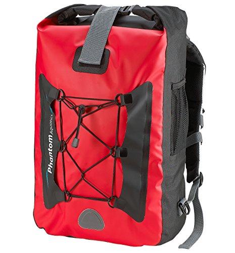 Phantom Aquatics Waterproof Backpack Dry Bag, (25 litres - Red)