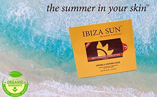 Ibiza Sun Sunless Tanning Wipes for Face & Body