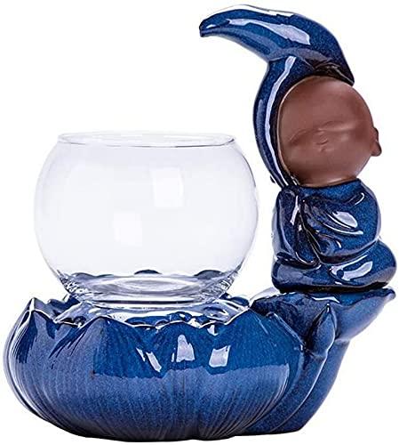 LCJD Fuente Interior Decoración del hogar Adornos de Agua de cerámica Humidificador de Fuente de cerámica Creativa