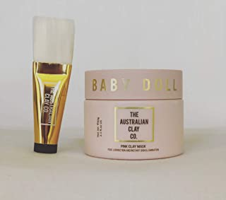 The Australian Clay Co. – Babydoll Pink Clay Mask – perfect for younger looking skin – eco-friendly - clay mask which draws out toxins – natural Australian clay mask – a gift of confidence
