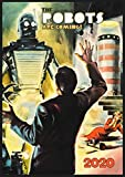 "Wall Calendar 2020 [12 pages 8""x11""] Sci Fi Robots Space Vintage Trash Movie Posters"