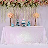 BalsaCircle TRLYC 60 x 102-Inch Rectangular Sequin Tablecloth Iridescent for Wedding Party Christmas Day-Iridescent