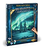 Schipper MNZ - Polarlichter 609130813 Numbers 40 x 50 cm Polar Lights Adults with Brush and Acrylic Paints, Multicoloured