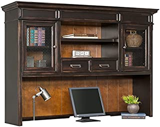 Martin Furniture Hartford Hutch, Brown - Fully Assembled