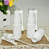 Airgoesin 10pcs Mist Spray Bottle Throat, Nasal, Tonsil Stone, Oral Care Mist Atomizer Empty Bottle for Cleaning, Healing, Traveling or Perfume 20ml