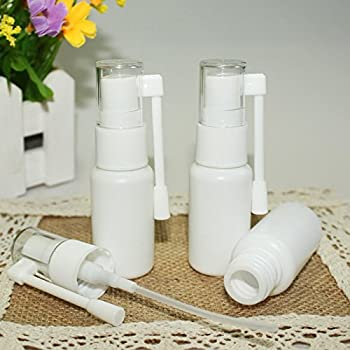 Airgoesin 10pcs Mist Spray Bottle Throat Nasal Tonsil Stone Oral Care Mist Atomizer Empty Bottle for Cleaning Healing Traveling or Perfume 20ml