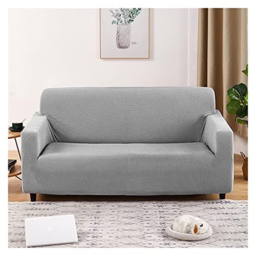 Jacquard Sofa Covers,Elastischer Polyester-Massivfarbe 1/2/3/4 Sitzer Sofa-Slipcover, Stretch Möbelschutz (Color : Gray, Größe : 75-91inch)