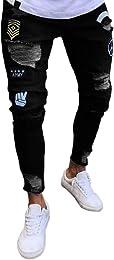 Pantalons en Denim Jeans Homme Mode Chic Insigne S