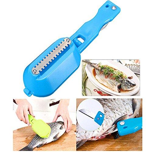 ICYANG 2 Stück Fischschuppen Entferner Fischschaber Schnellreiniger Hause Küche Sauber Praktische Schäler Werkzeuge