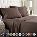 Hotel Luxury Bed Sheets Set 1800 Series Platinum Collection Softest Bedding, Deep Pocket,Wrinkle & Fade Resistant (Full,Brown)