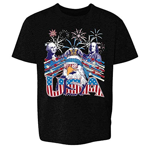USA Epic American Pride Funny Merica 4th of July Black 2T Toddler Kids Girl Boy T-Shirt