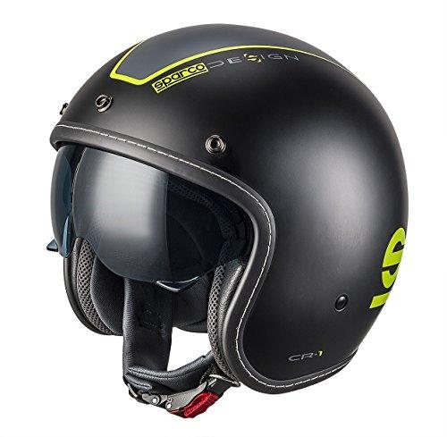 SPARCO 0033402MNRGF Helme CR-1, Schwarz, M