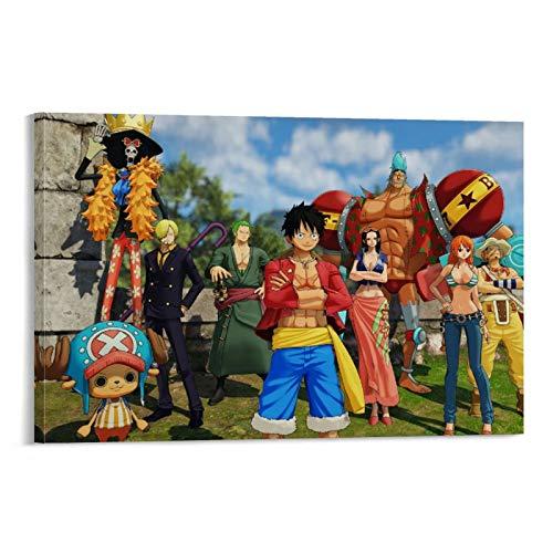 xuyang Poster sur toile avec dessin animé japonais One Piece World Seeker 60 x 90 cm