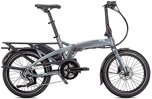 Tern Cmp1875 Vouwfiets Vektron P7i fiets E-Bike 7 versnellingen aluminium grijs 25 km/u naafschakeling Shimano 36 V 250 W, CB19EHPC07HLRLH23, zwart-zilver, M