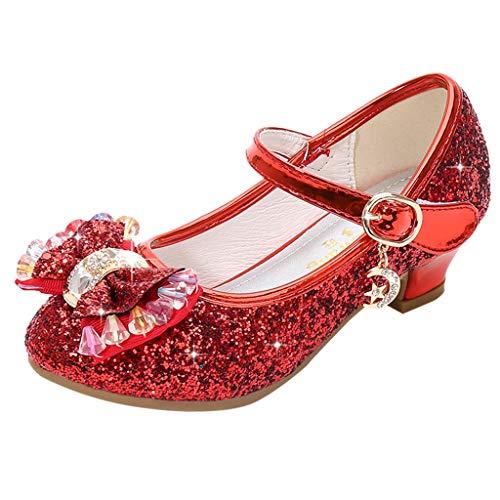 Ucoolcc Mädchen Festliche Tanzschuhe, Standard Latein Ballsaal Salsa Tango Schuhe, Kinder Pailletten Prinzessin Kinderschuhe, kleine Schuhe, einzelne Mädchenschuhe