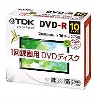 TDK DR120DPWC10UF | 録画用DVD-R 4.7GB 10枚16倍速 CPRM対応ワイドプリンタブル