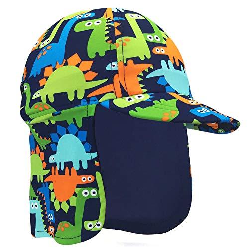 Niños Legionarios Sombrero, UPF 50+ Proteccion Solar Gorra de Baño Sombrero de Solapa en Patrón de Dinosaurio para Niños