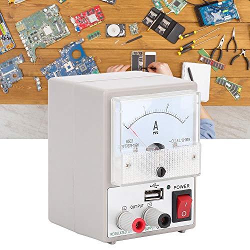 3A 5V DC Fuente de Alimentación,Fuente de Alimentacion 5V Amperímetro para Mantenimiento de Comunicaciones con Protección contra Cortocircuitos Con la Interfaz de Salida USB(EU)