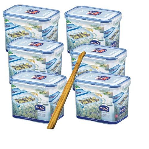 Lock & Lock boites de Conservation Set 6 pièces HPL 812 Chaque 1,0 L