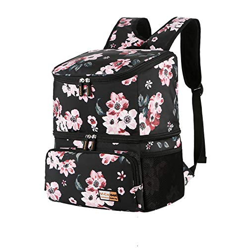 V-COOOL Breast Pump Backpack with Cooler Compartment Double Layer Pumping Bag for Working Moms, Violet Size 15