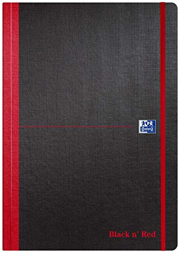 Oxford Black n' Red - Cuaderno (A4, tapa blanda, 144 páginas), color negro