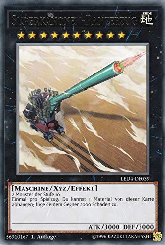 LED4-DE039 - Superkanonen-Panzerzug - Rare - Yu-Gi-Oh - Deutsch - 1. Auflage
